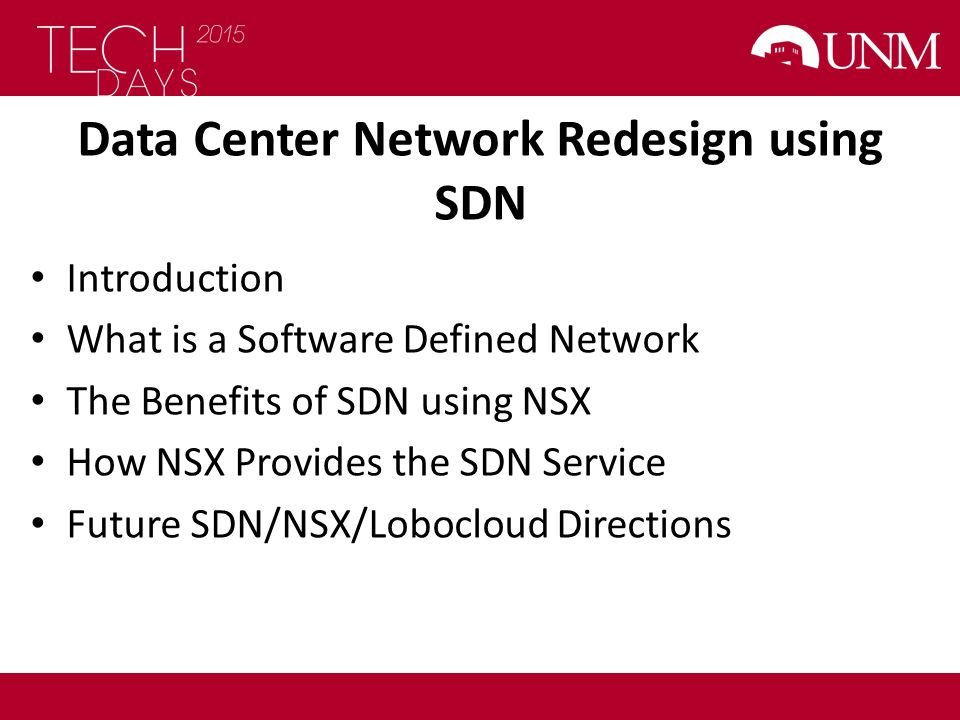Data Center Network Redesign using SDN