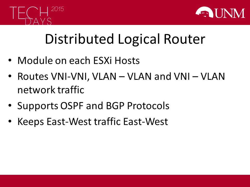 Distributed Logical Router