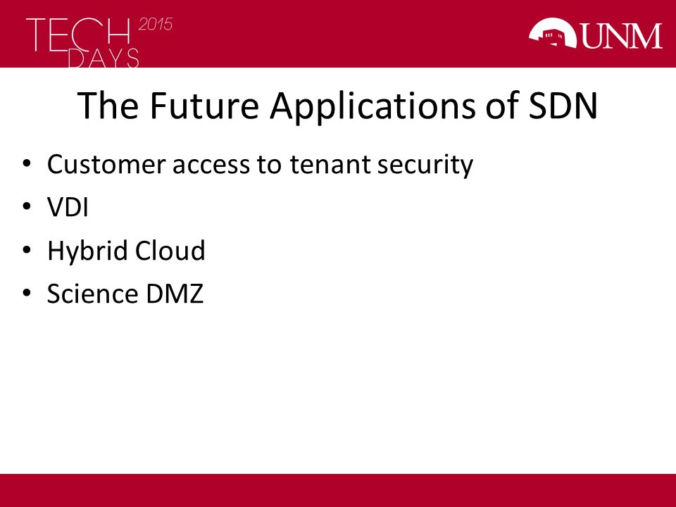 The Future Applications of SDN