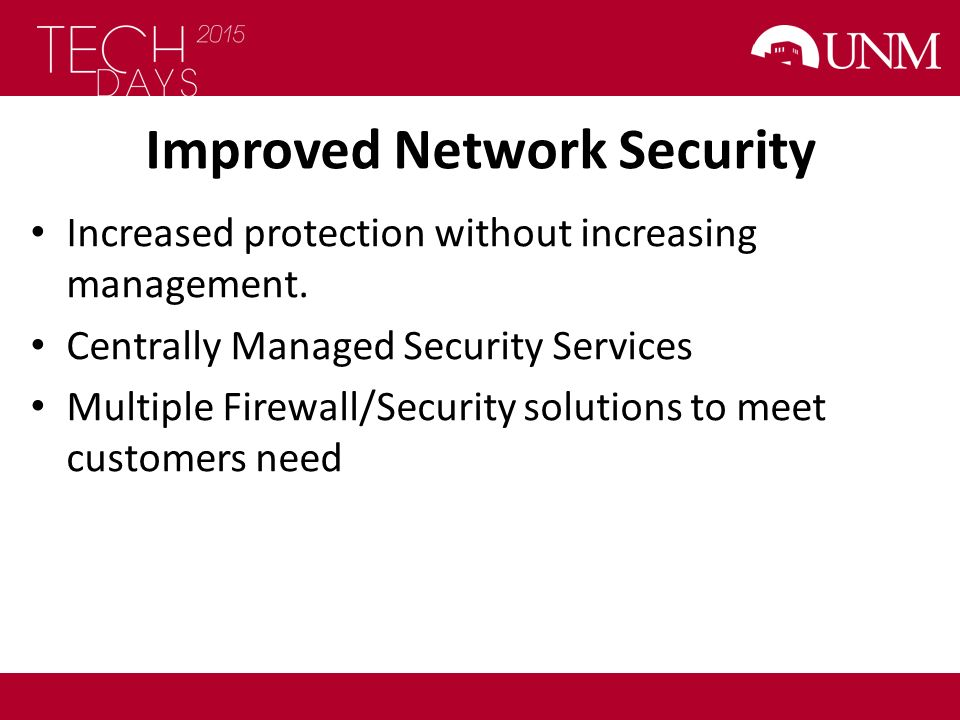 Improved Network Security