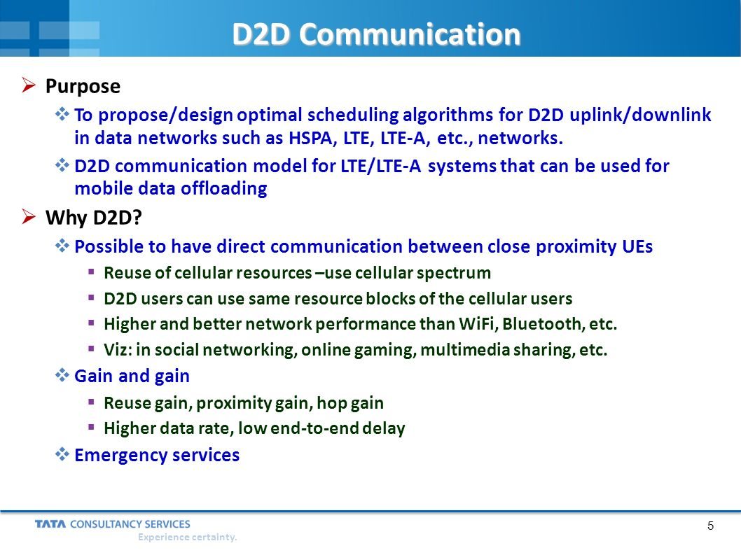 Device-to-Device (D2D) Communication - ppt video online download