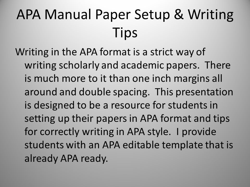 writing in the apa style ppt download