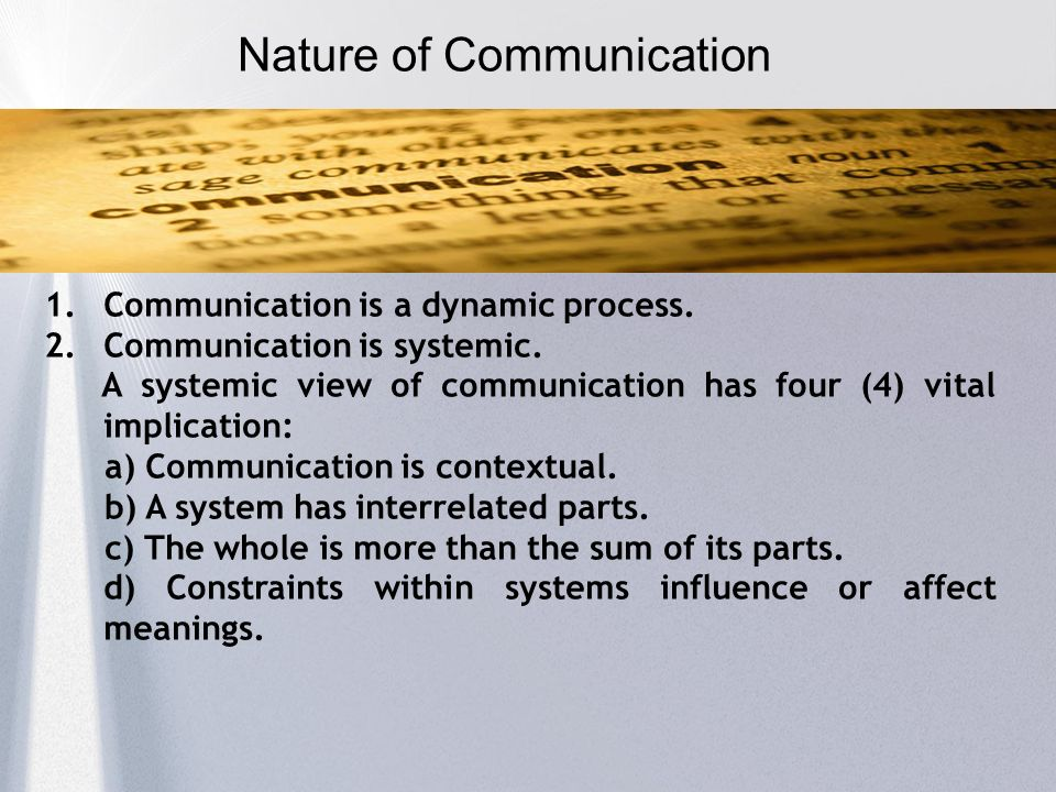 cyclic process of communication