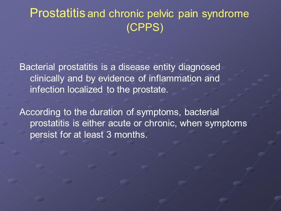 Prostatitis spasmolitics)