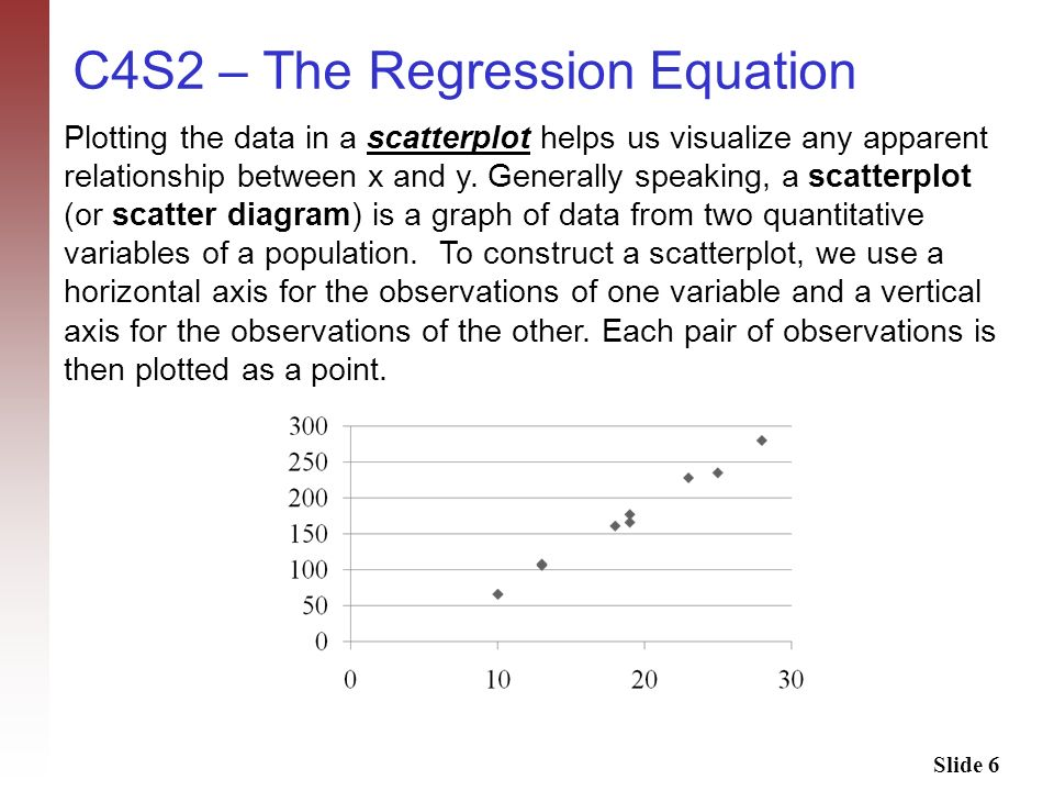 C4S2 – The Regression Equation