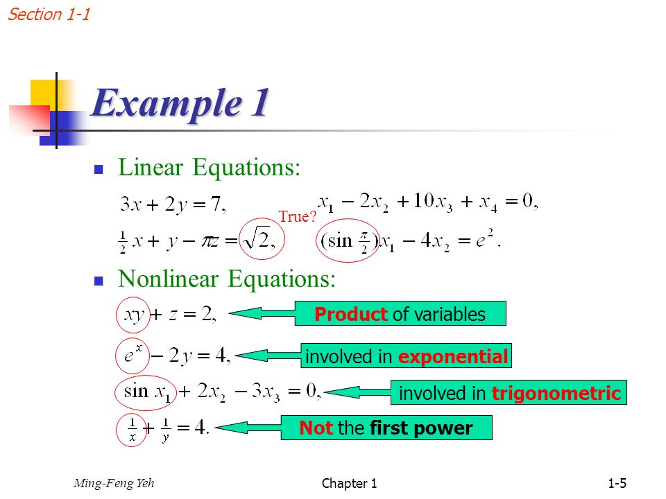 Chap  1 Systems of Linear Equations - ppt download