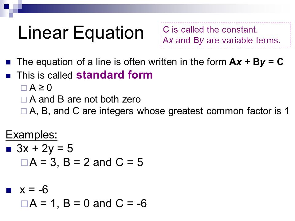 Writing Linear Equations - ppt video online download