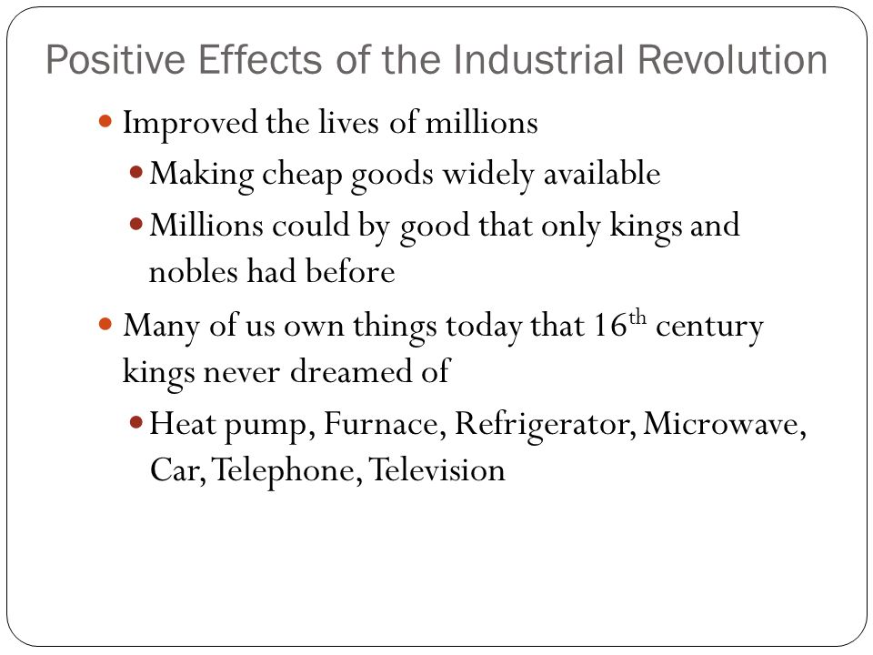 positive effects of the neolithic revolution