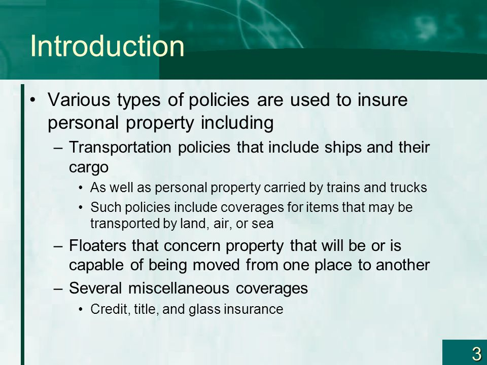 Risk Management and Commercial Property–Part II Chapter ppt