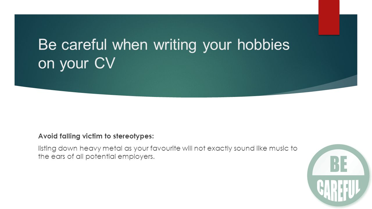 write about your hobbies
