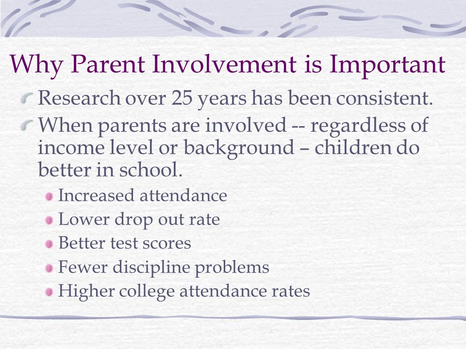 Why Parent Involvement is Important