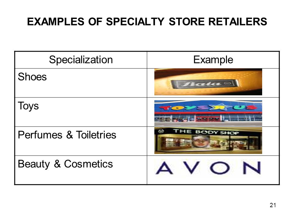 advantages of specialty stores