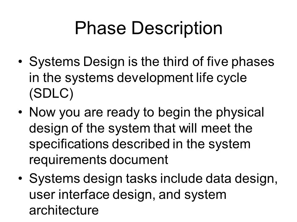 Phase 3 Systems Design Chapter 6 Data Design Ppt Video Online Download