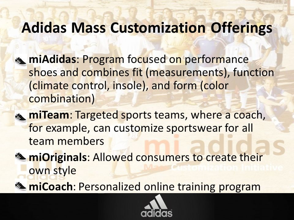 adidas mass customization offerings