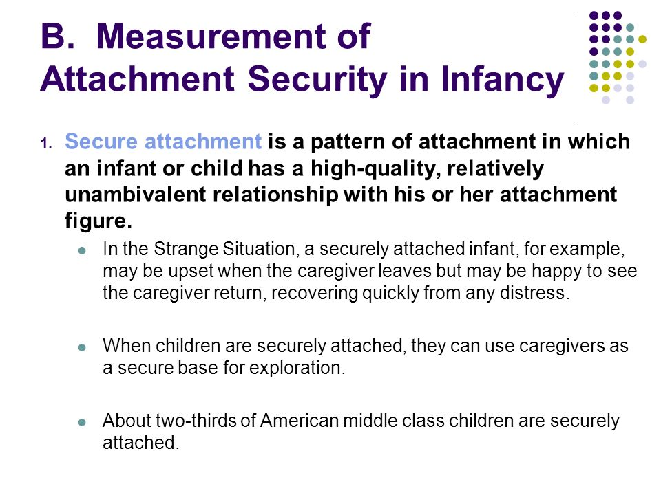 secure attachment examples