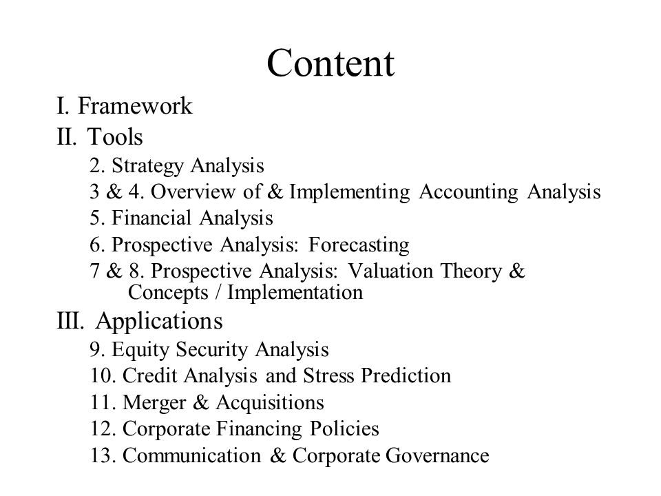 Business Analysis & Valuation Using Financial Statements - ppt download