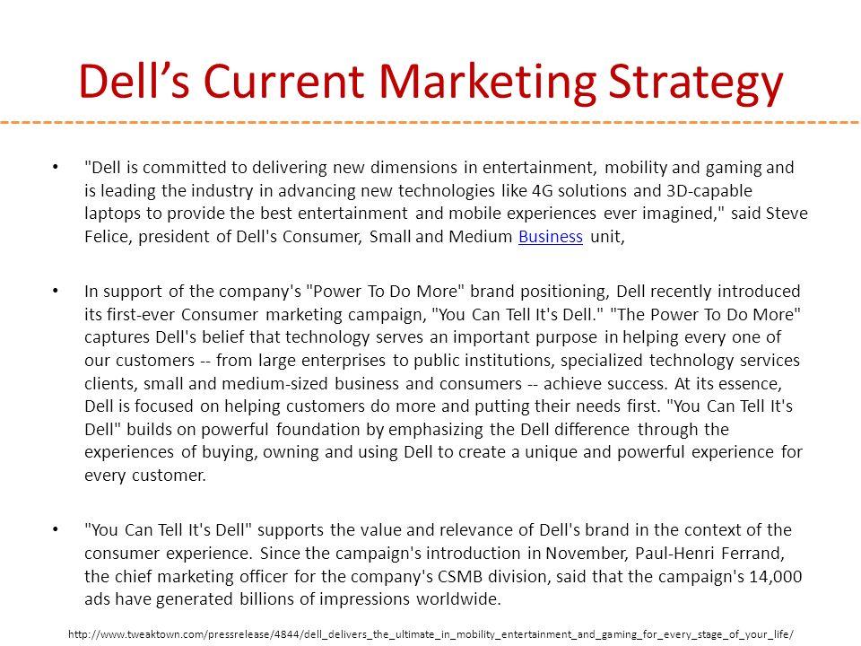 marketing strategy of dell company