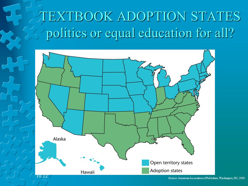 Textbook Adoption States Map.Curriculum Standards And Testing Ppt Video Online Download