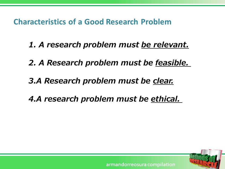 good research problem