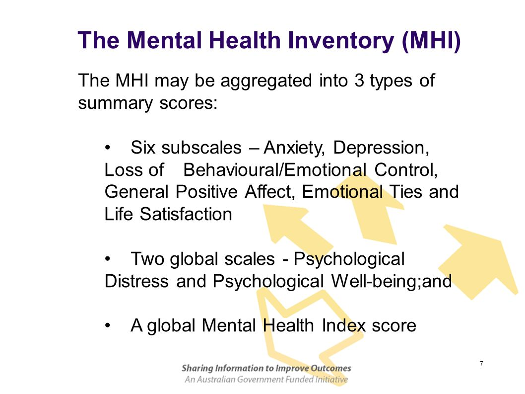 The Mental Health Inventory (MHI)