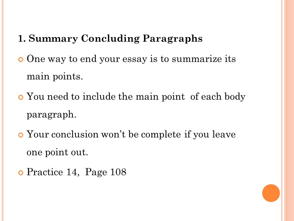 how to end a paragraph in an essay