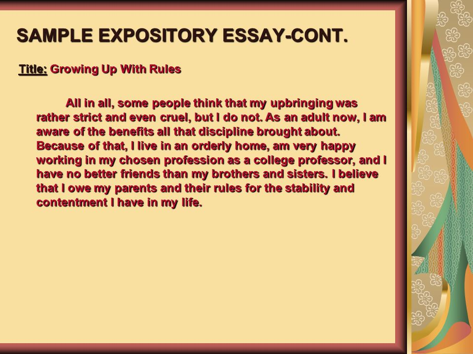 Compare And Contrast Essay High School And College Sample Expository Essaycont Essay On Photosynthesis also English Persuasive Essay Topics Esol And Language Arts Teacher  Ppt Download Wonder Of Science Essay