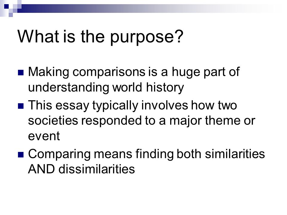 comparative essay comparative writing   ppt video online download  what is the purpose