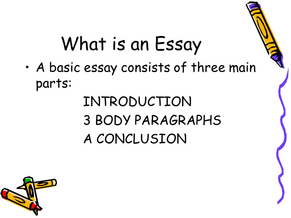 What is an Essay A basic essay consists of three main parts: