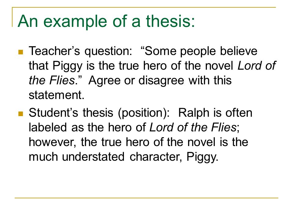 Essay Thesis For Lord Of The Flies Mistyhamel
