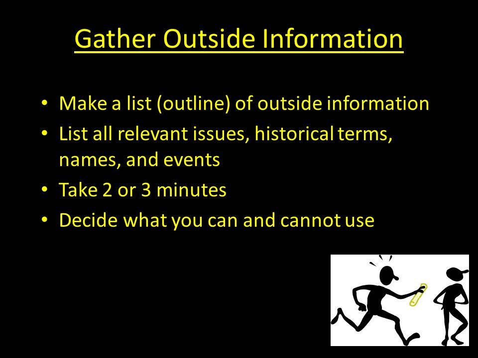 Gather Outside Information