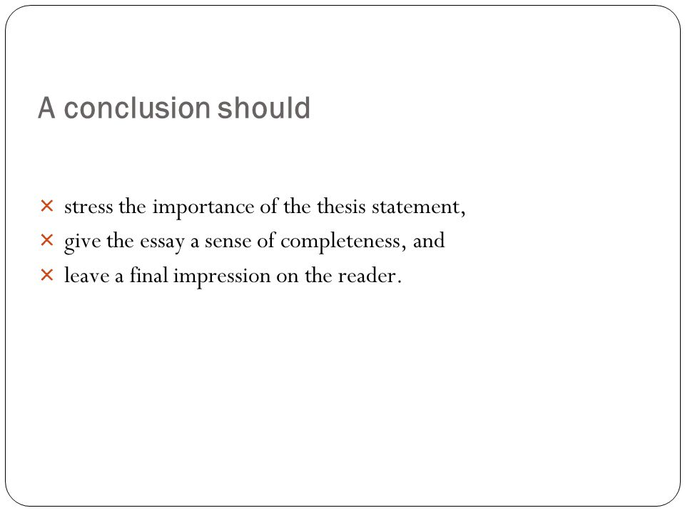 how to write conclusion for thesis