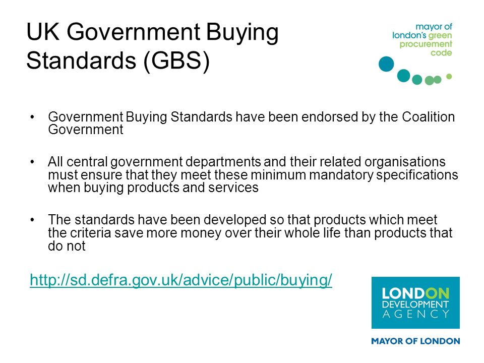 UK Government Buying Standards (GBS)