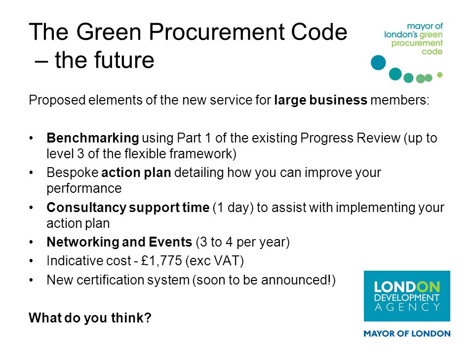 The Green Procurement Code – the future