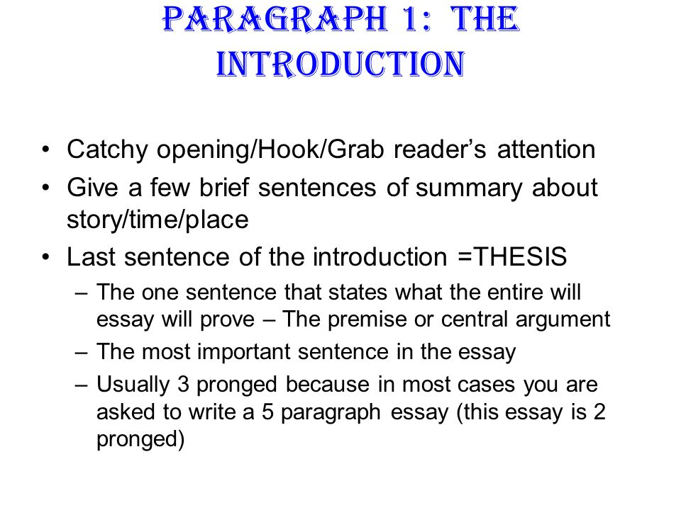 good opening paragraphs for essays