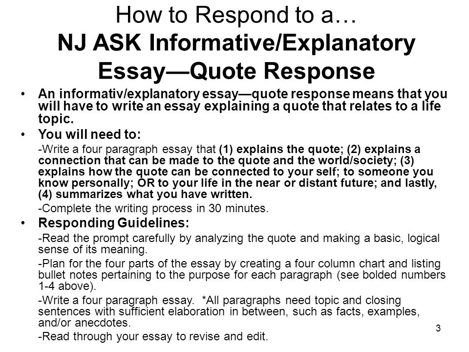 Informativeexplanatory Prompt Essay Based On A Quote  Ppt Video  Nj Ask Informativeexplanatory Essayquote Response