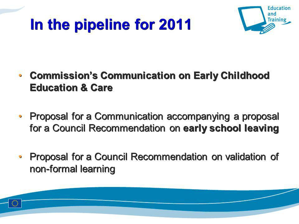 In the pipeline for 2011 Commission's Communication on Early Childhood Education & Care.