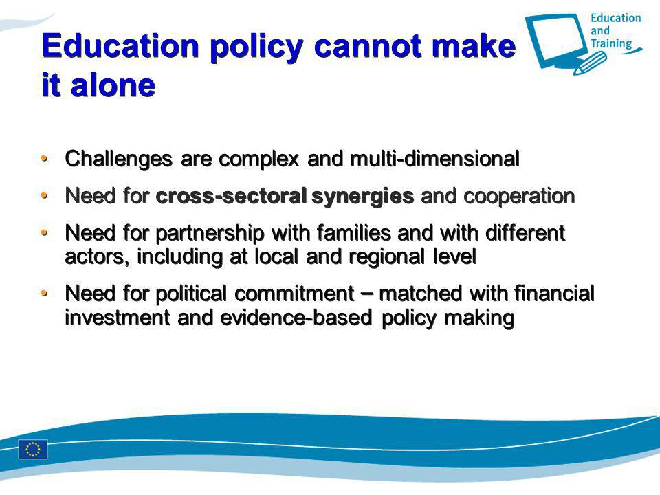 Education policy cannot make it alone