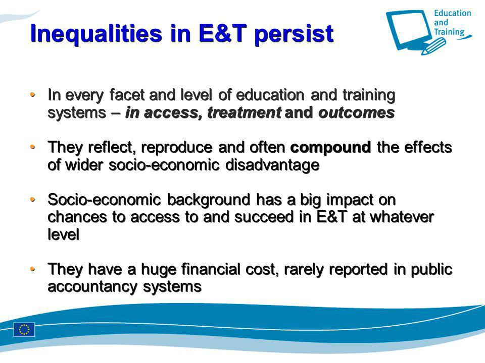 Inequalities in E&T persist
