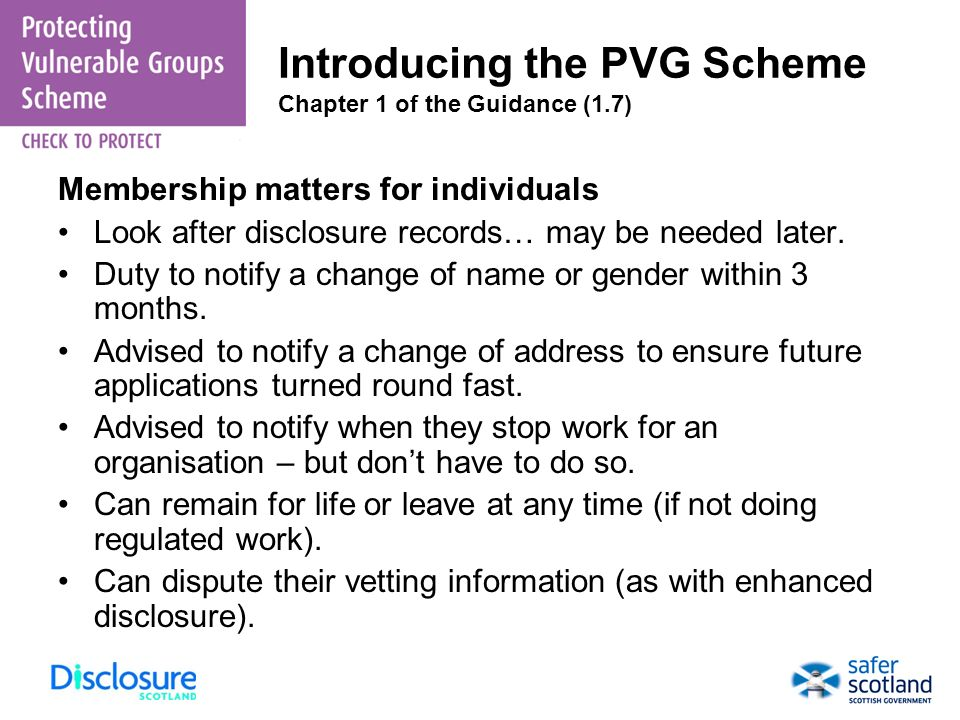 Introducing the PVG Scheme Chapter 1 of the Guidance (1.7)