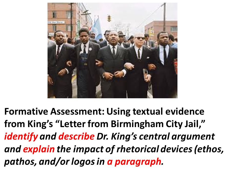 a rhetorical analysis of the letter from birmingham jail by martin luther king jr and malala yousafz Every word, phrase, or clause can have rhetorical purpose for building central ideas and appealing to an audience plan your 60-minute lesson in martin luther king jr or english / language arts with helpful tips from erik sussbauer, ed d.