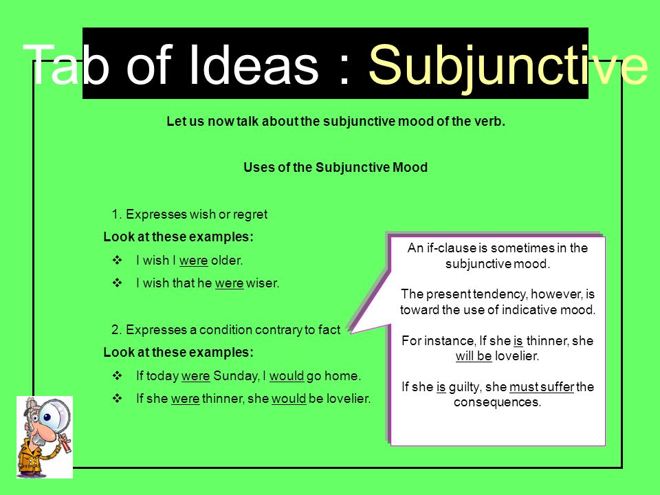 What is the subjunctive? | ks2 grammar: the subjunctive form.