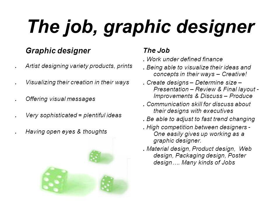 The Job Graphic Designer