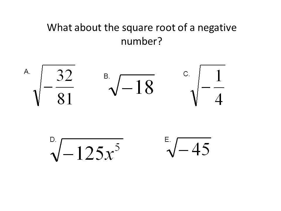What about the square root of a negative number
