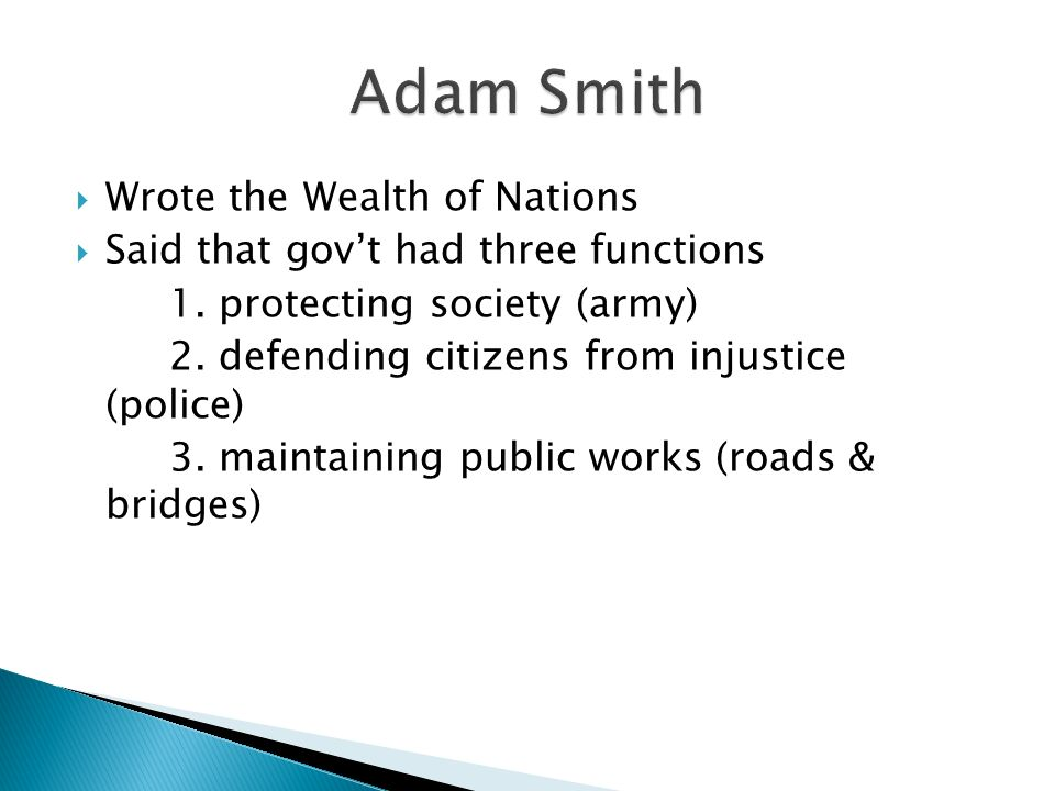 What Were Adam Smith S Three Natural Laws