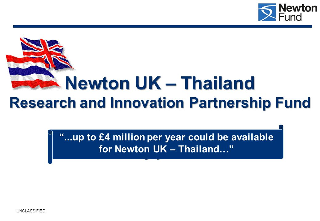 Newton UK – Thailand Research and Innovation Partnership Fund