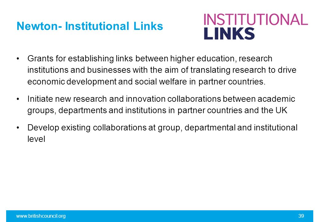 Newton- Institutional Links
