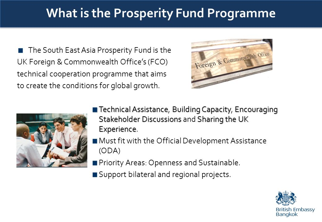What is the Prosperity Fund Programme