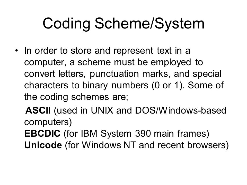 store coding system
