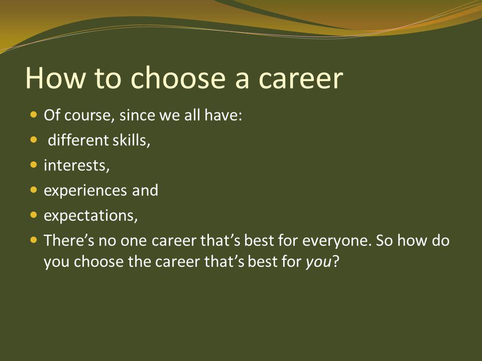 How To Choose A Career >> How To Choose A Career By Arif Masih Khokhar Ppt Video Online Download