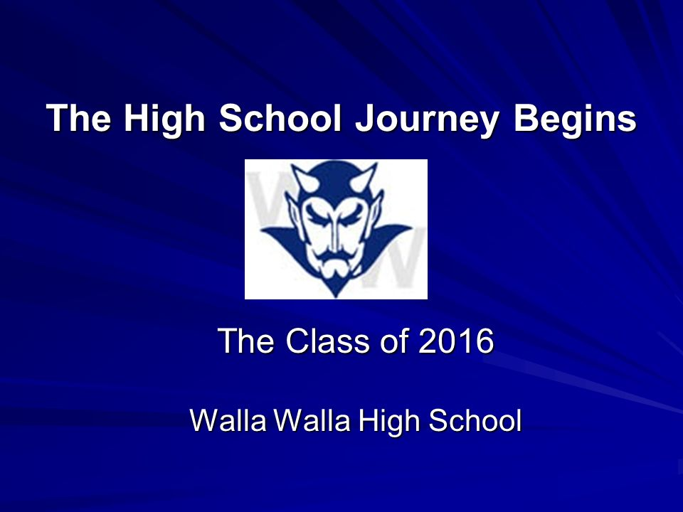 The High School Journey Begins